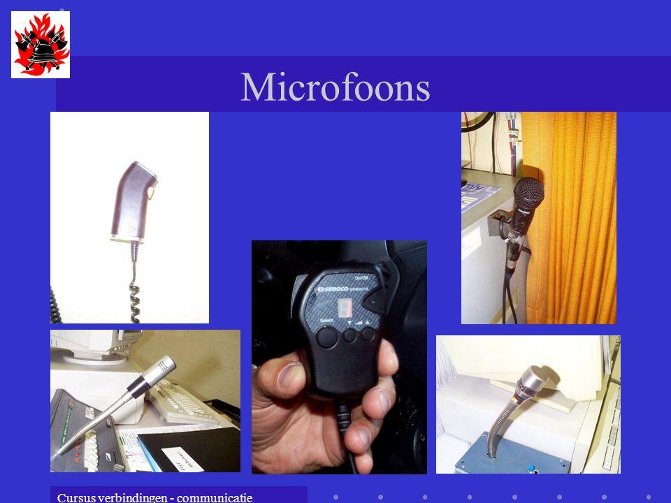 Cursus verbindingen - communicatie Microfoons