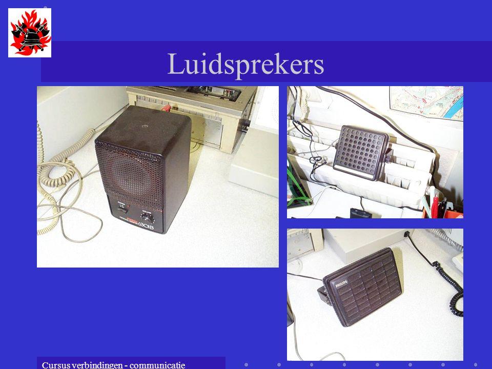 Cursus verbindingen - communicatie Luidsprekers