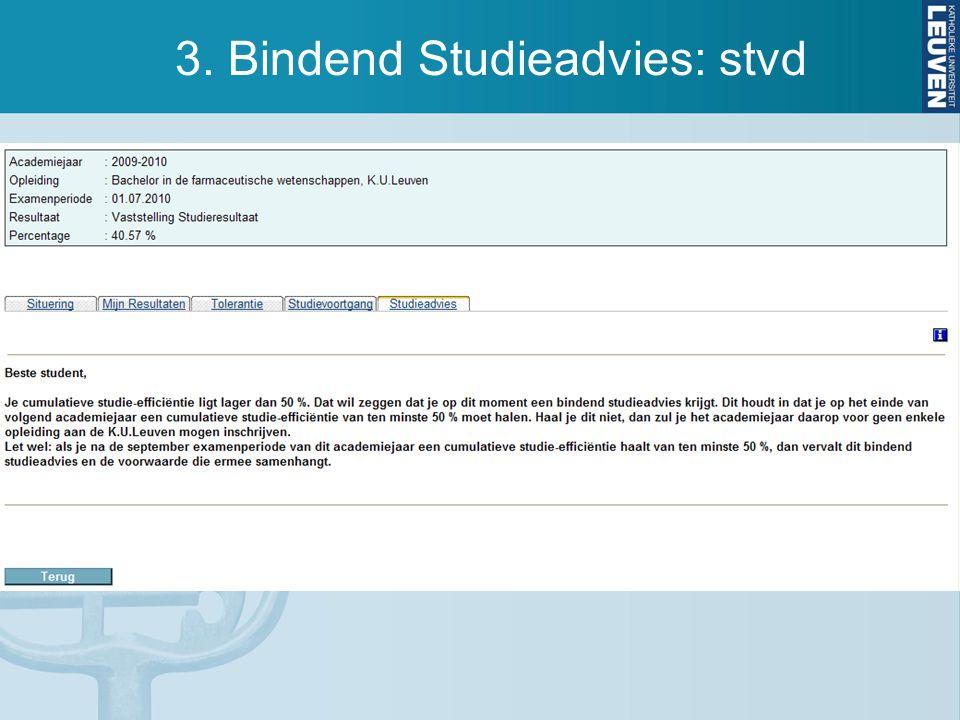3. Bindend Studieadvies: stvd