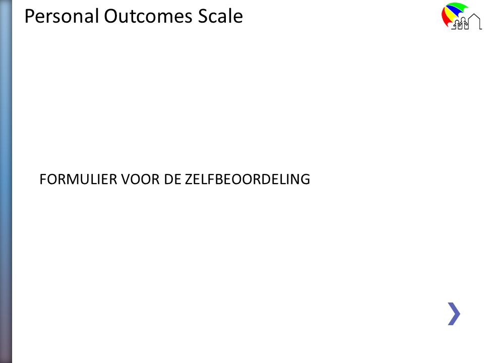 Personal Outcomes Scale 2. Het instrument
