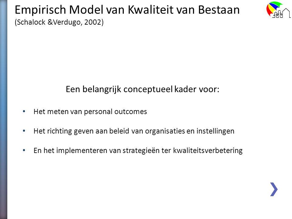 Acht principes welke ten grondslag zouden moeten liggen aan het meten van aan Kwaliteit van Bestaan gerelateerde persoonlijke (ondersteunings)uitkomst