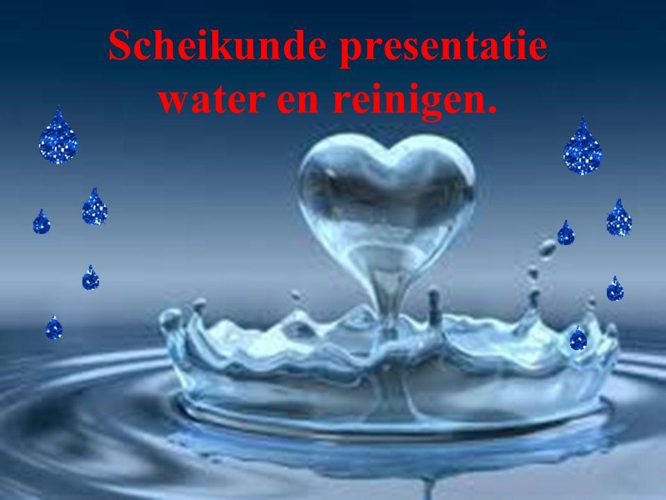 Scheikunde presentatie water en reinigen.