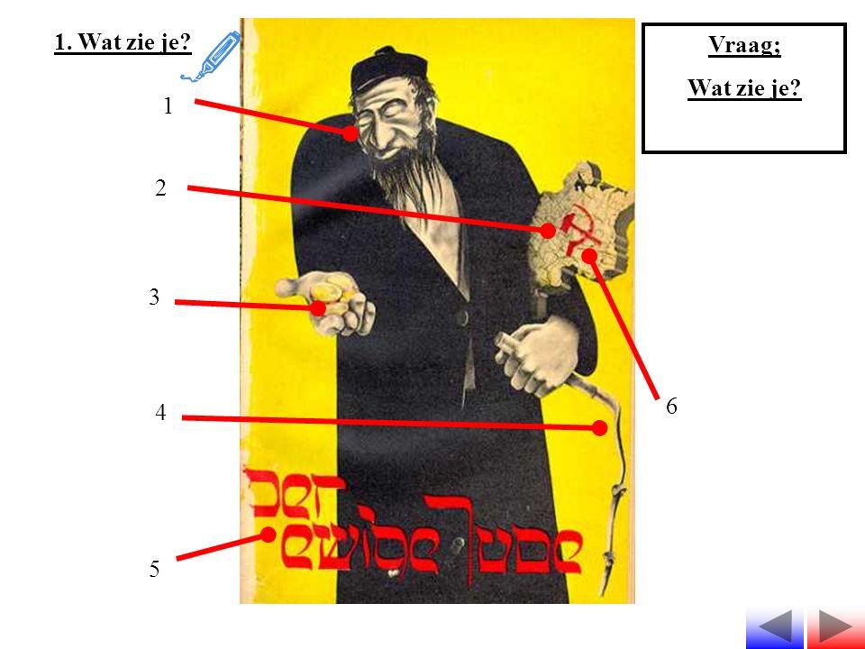 1. Wat zie je Vraag; Wat zie je 1 2 3 4 5 6