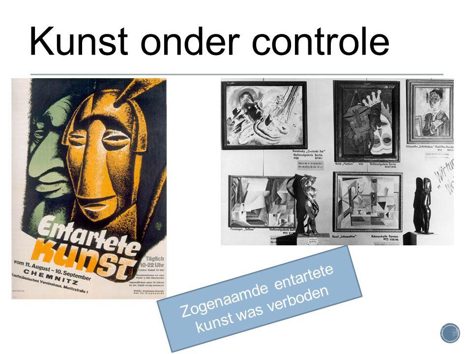 Zogenaamde entartete kunst was verboden Kunst onder controle