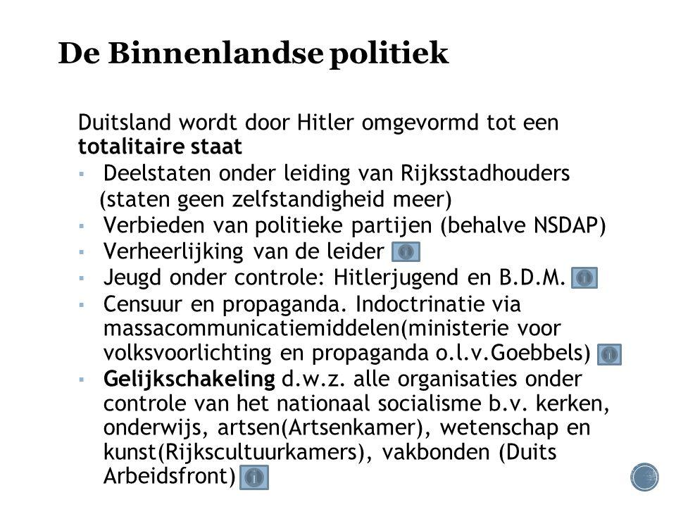 ▪ Systeem van terreur en controle: 1.Geheime politie (SD en Gestapo) 2.