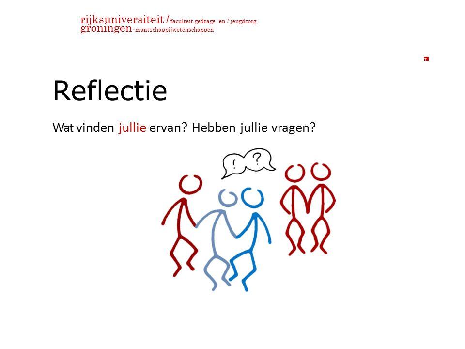 rijksuniversiteit / faculteit gedrags- en / jeugdzorg groningen maatschappijwetenschappen Reflectie Wat vinden jullie ervan.