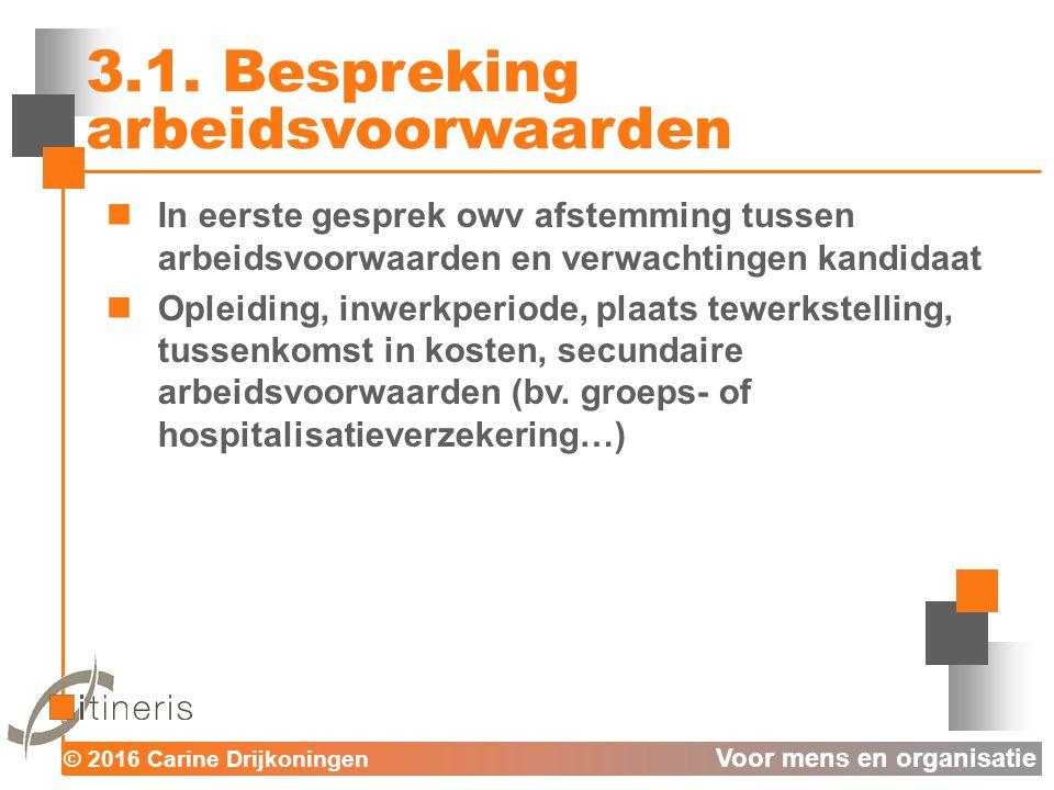 © 2016 Carine Drijkoningen Voor mens en organisatie 3.1.
