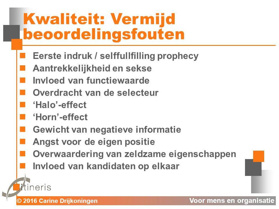 © 2016 Carine Drijkoningen Voor mens en organisatie 1.3.