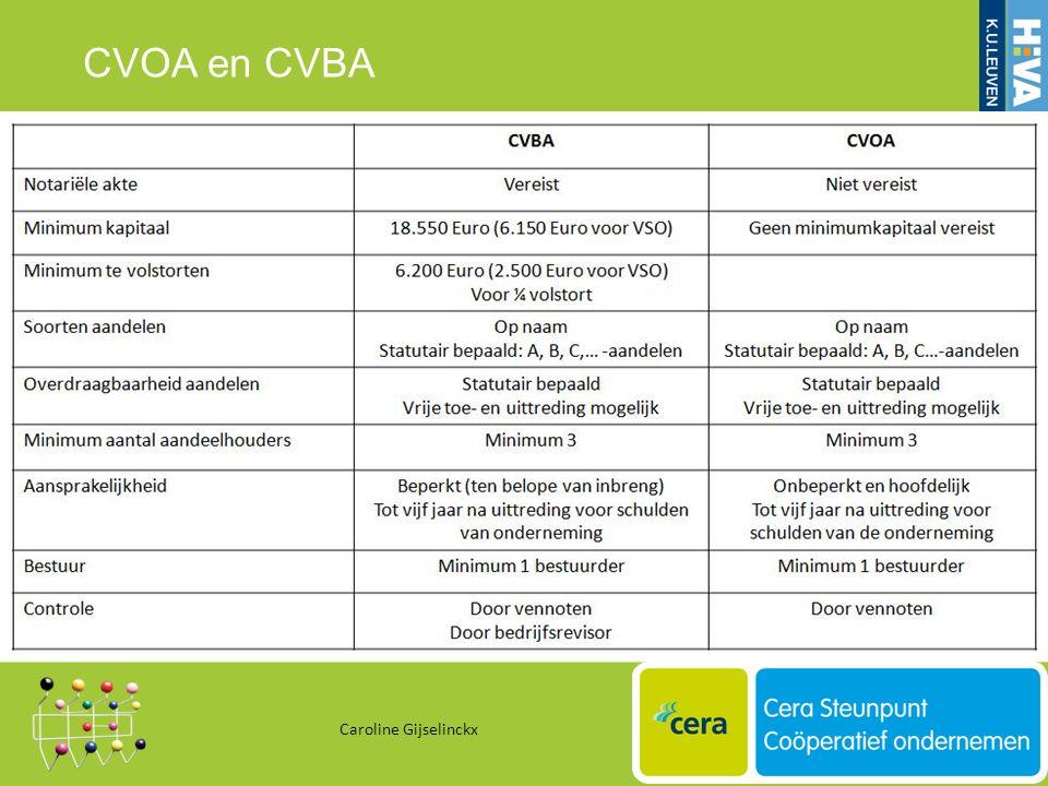 CVOA en CVBA Caroline Gijselinckx 30