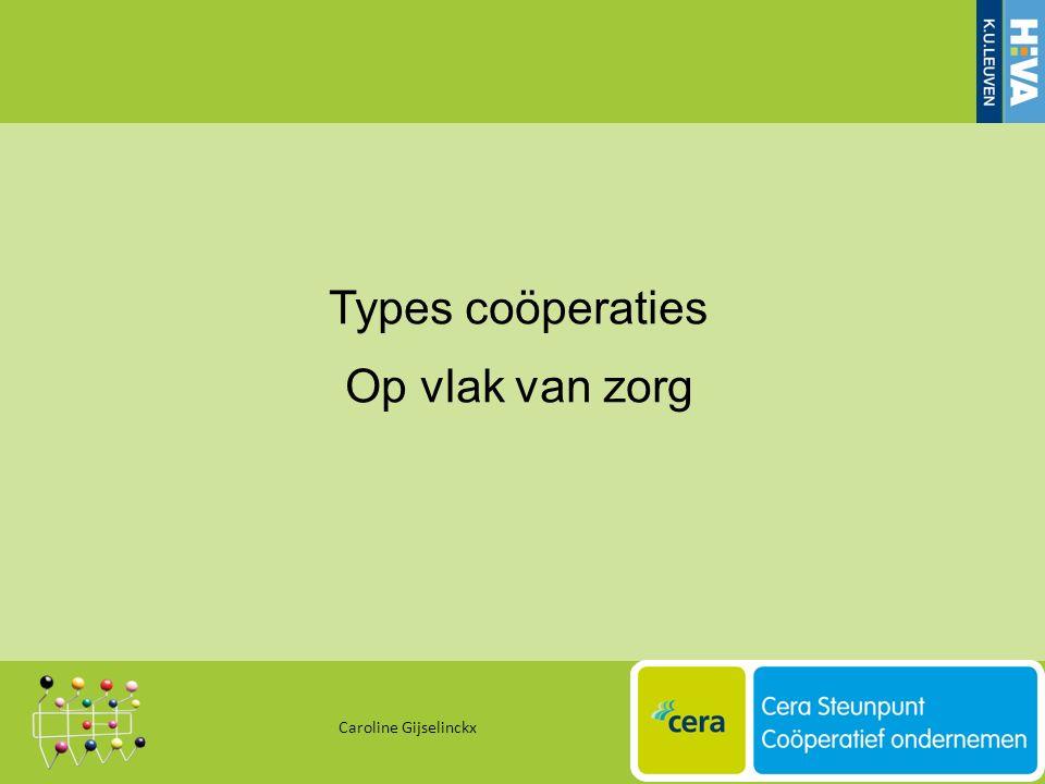 Types coöperaties Op vlak van zorg Caroline Gijselinckx 35