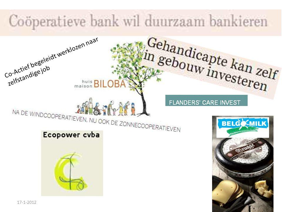 Co-Actief begeleidt werklozen naar zelfstandige job 17-1-2012