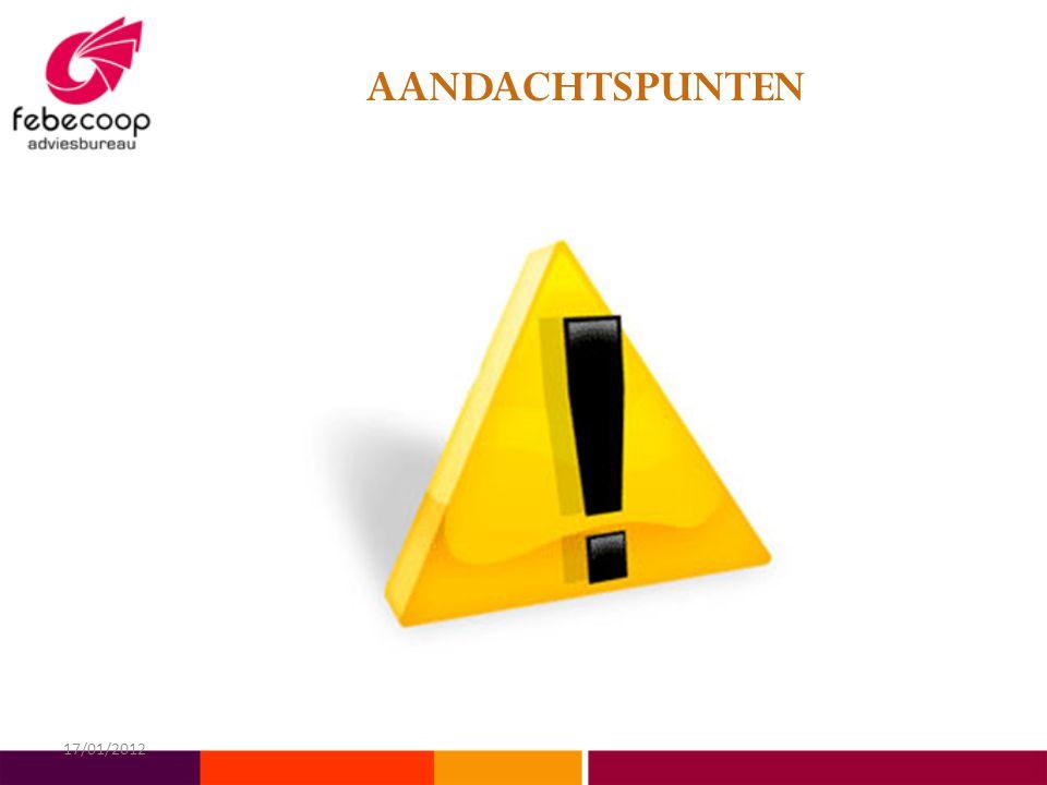 AANDACHTSPUNTEN 17/01/2012