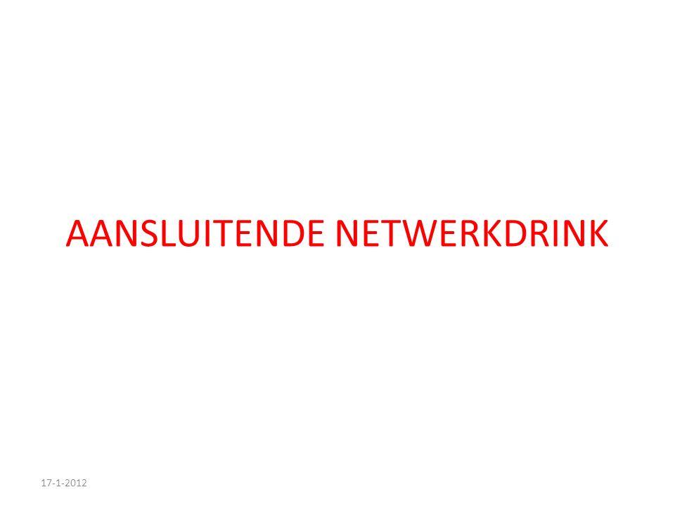 AANSLUITENDE NETWERKDRINK 17-1-2012