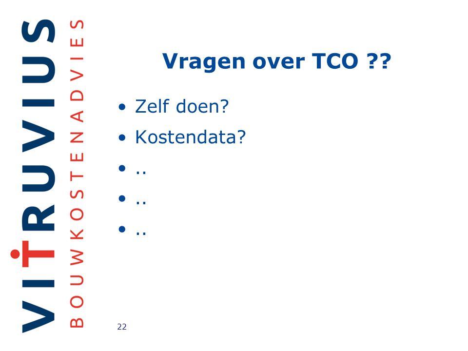 Vragen over TCO Zelf doen Kostendata .. 22