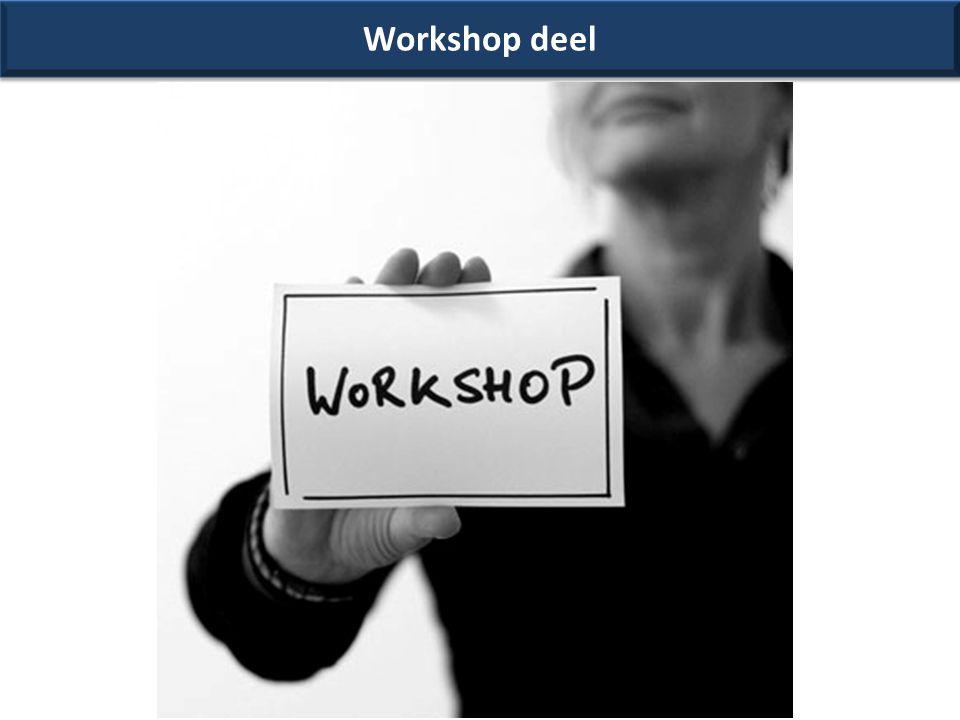 Workshop deel