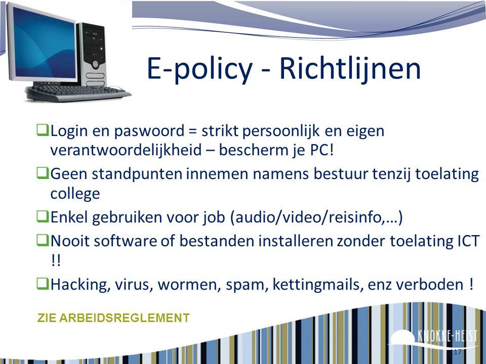 116 ! E-policy ! Middelenbeleid
