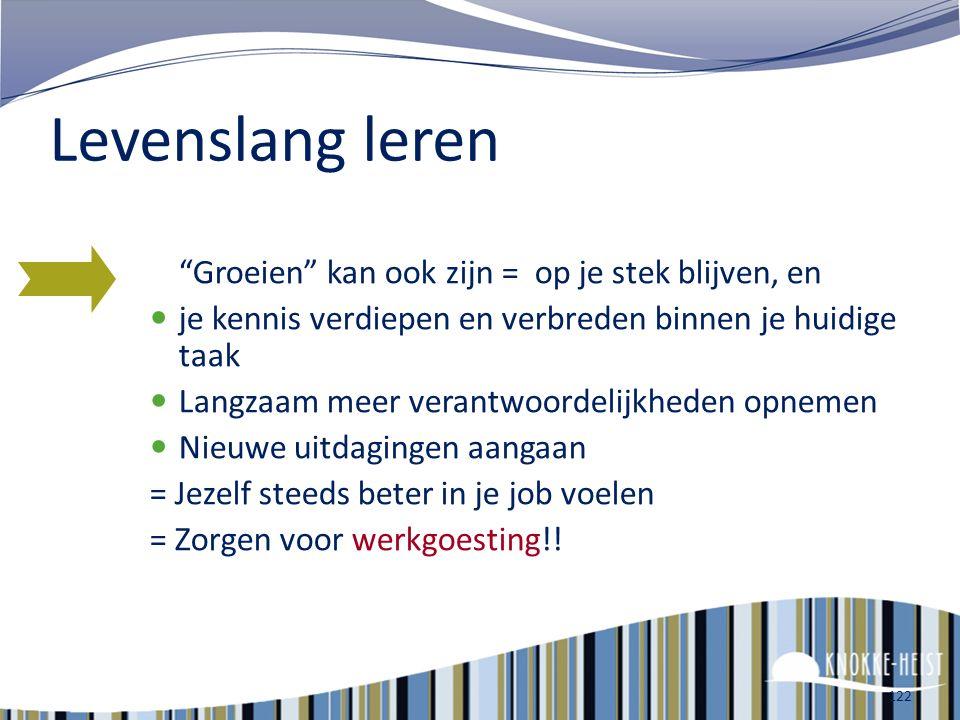 121 Het gemeentebestuur van Knokke-Heist stimuleert je om levenslang te leren en te groeien!