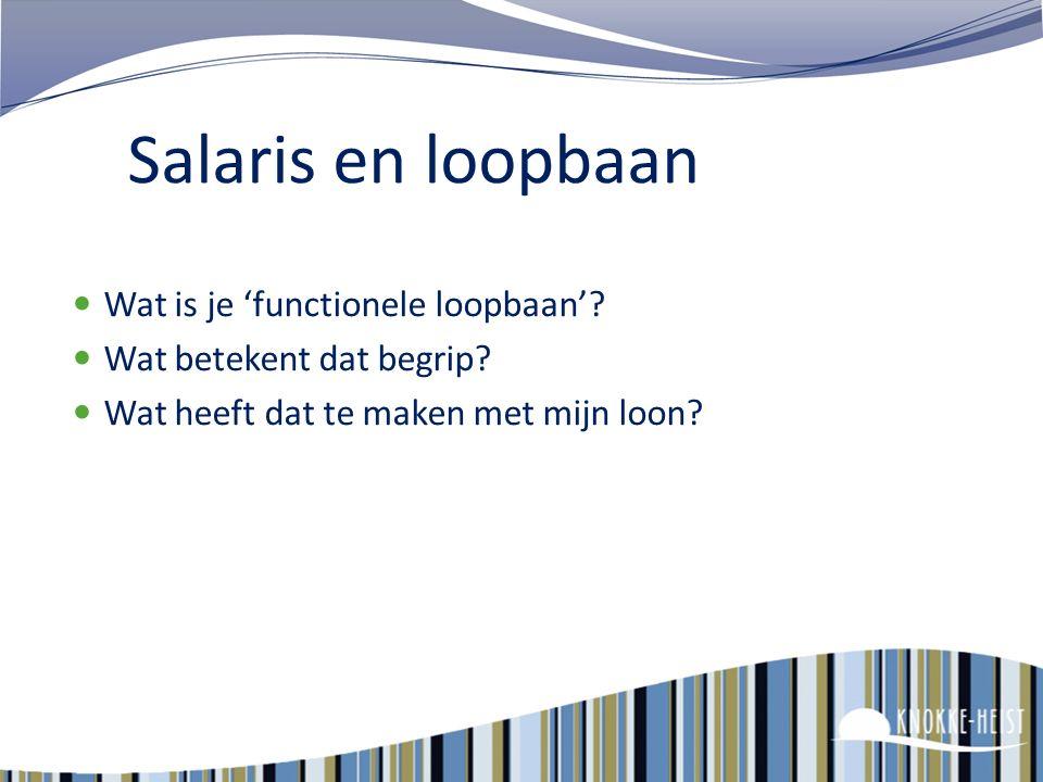 23 Loon - toelagen - extra voordelen Salaris – Loopbaan Geldelijke anciënniteit – schaalanciënniteit Verplichte toelagen Onregelmatige prestaties Over