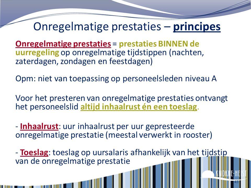 42 Verplichte toelagen Eindejaarstoelage Eindejaarstoelage Voor wie : iedereen die tijdens periode januari t/m september bij ons werkt Bedrag 2013 : -