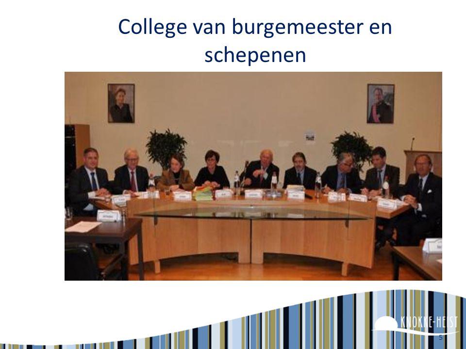 5 College van burgemeester en schepenen