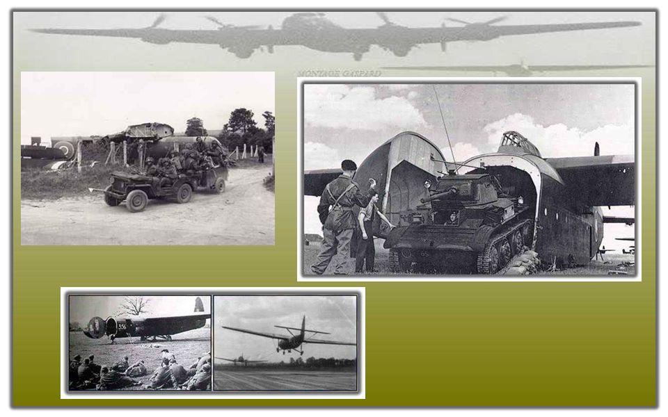 Parachutistes de la 6ème division aéroportée dans un avion Albemarle RAF à RAF Harwell, 5 Juin 1944. Para's van de 6th Airborne Division op een vliegt