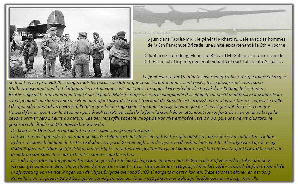 Opération Tonga. Cette dernière est le nom de code donné à l'acheminement par planeurs du reste de la 6th Airborne qui doit venir renforcer le disposi