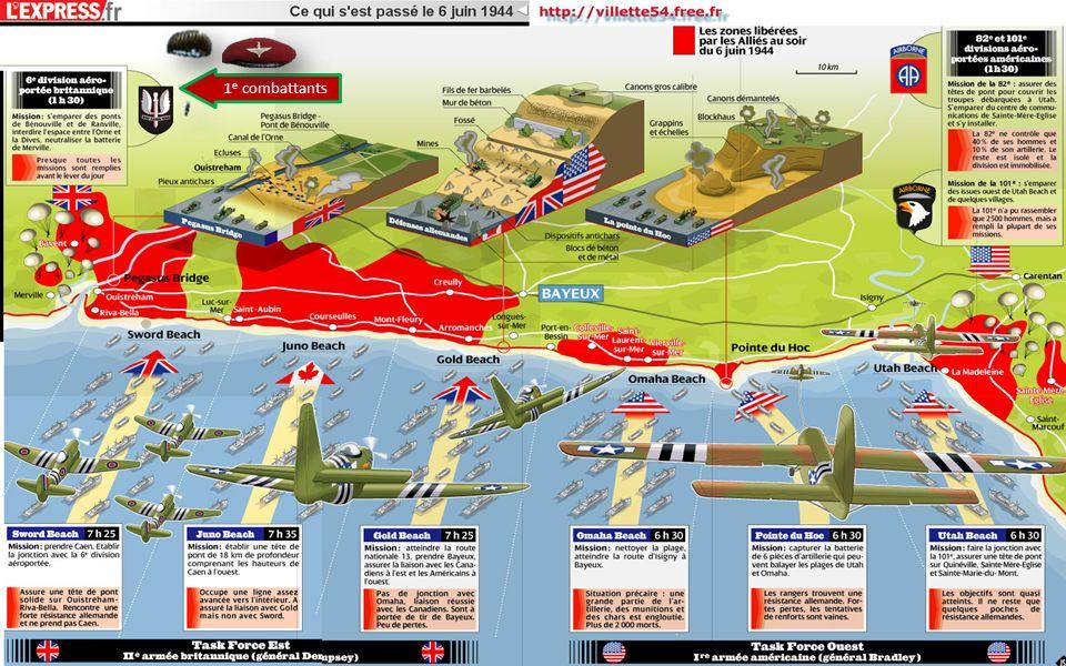 Dans la nuit du 4 au 5 juin 1944, 24 heures avant l assaut général, neuf parachutistes sont largués à proximité des LZ X et Y .