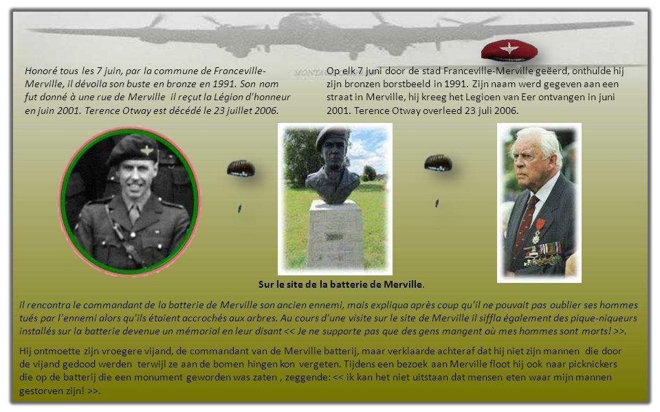 9e Bataillon de parachutistes à travers Amfreville 9de Parachute Battaljon door Amfreville.