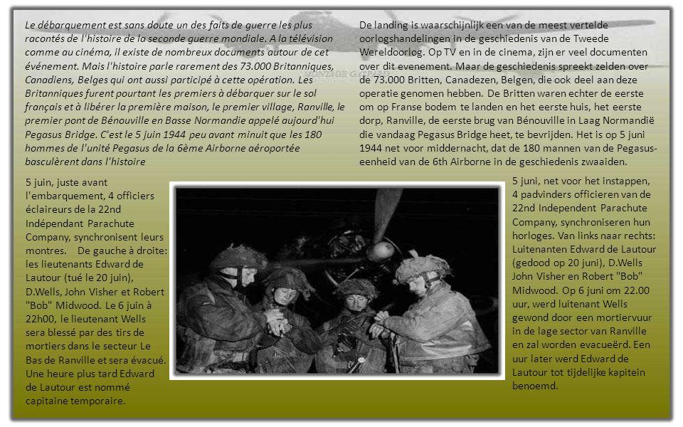 Angleterre 5 juin 1944, quelques heures avant d'embarquer à bord des avions, le général Richard Gale s'adresse à ses hommes. Engeland 5 juni 1944, enk