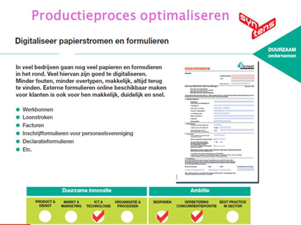 Productieproces optimaliseren 25 27-5-2016 Productieproces optimaliseren