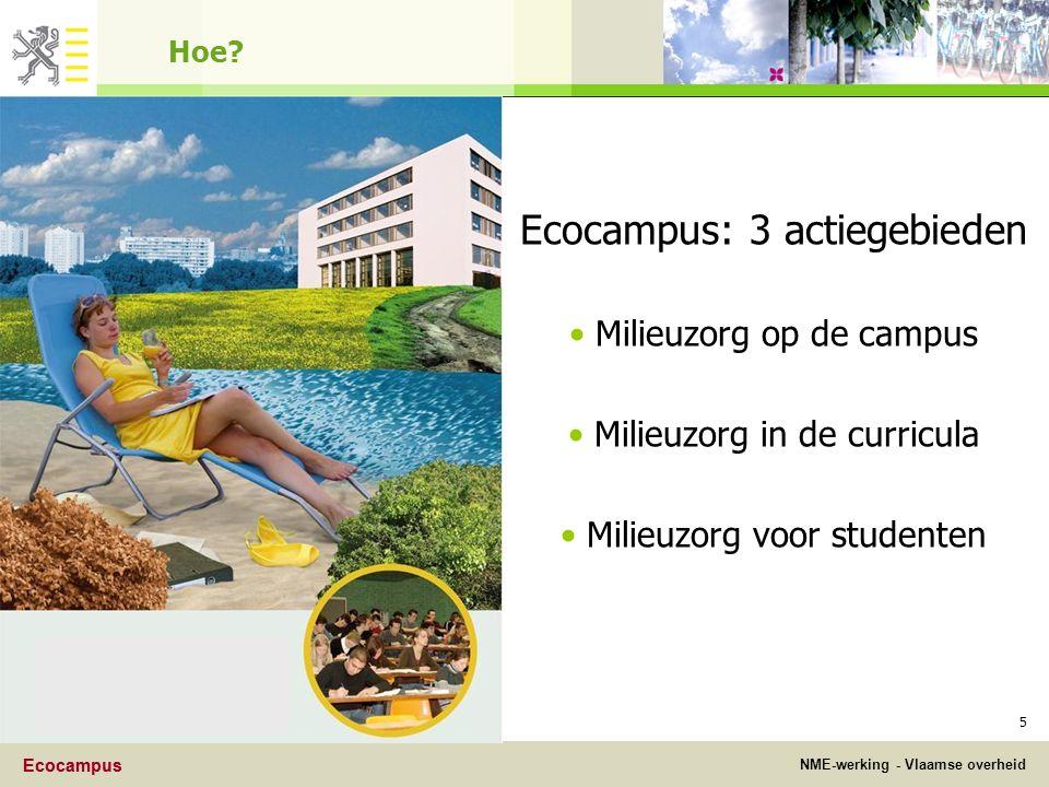 Ecocampus NME-werking - Vlaamse overheid Ecocampus 5 Hoe.