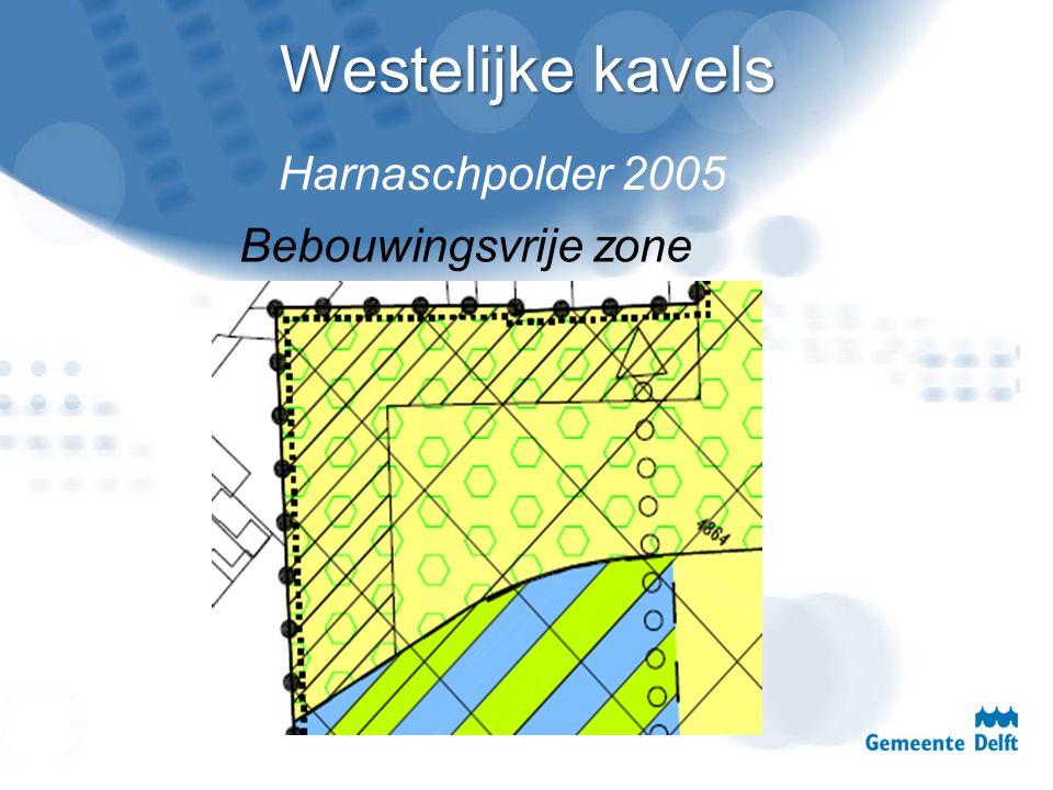 Westelijke kavels Bebouwingsvrije zone Harnaschpolder 2005