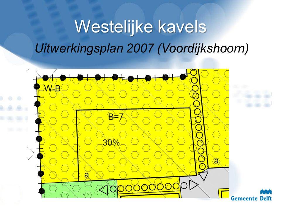Westelijke kavels Uitwerkingsplan 2007 (Voordijkshoorn)