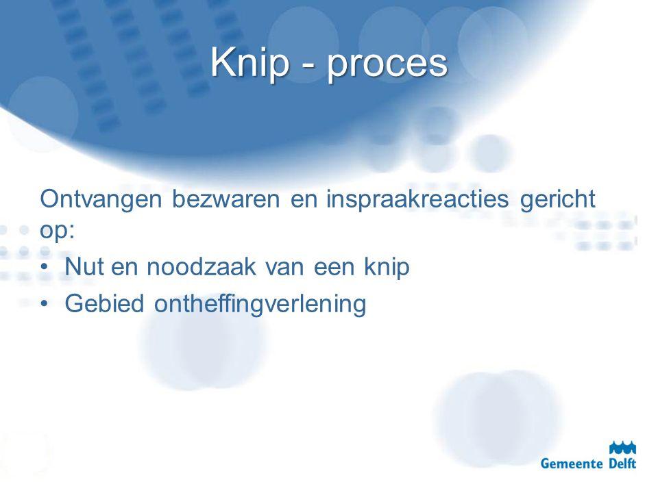 Knip - proces Ontvangen bezwaren en inspraakreacties gericht op: Nut en noodzaak van een knip Gebied ontheffingverlening