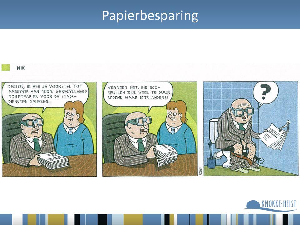 Papierbesparing