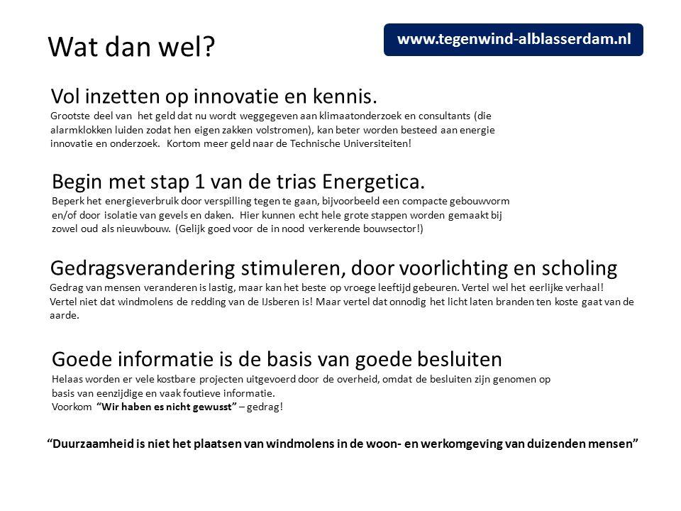 Wat dan wel. Vol inzetten op innovatie en kennis.