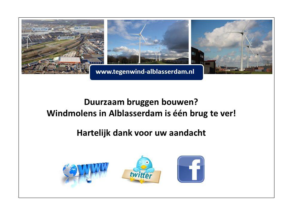 www.tegenwind-alblasserdam.nl Duurzaam bruggen bouwen.
