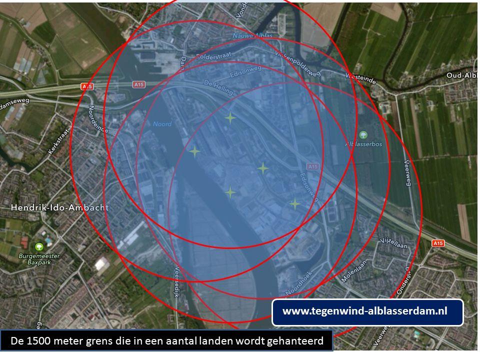 De 1500 meter grens die in een aantal landen wordt gehanteerd www.tegenwind-alblasserdam.nl