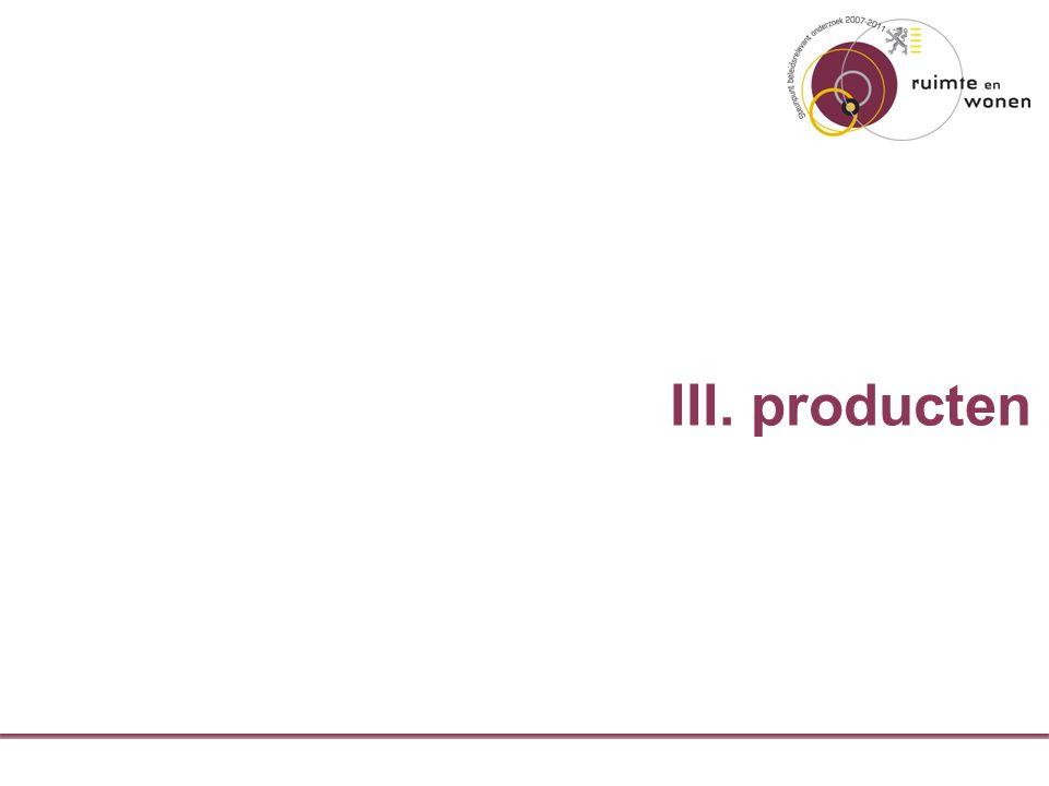 III. producten