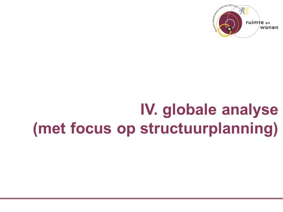 IV. globale analyse (met focus op structuurplanning)