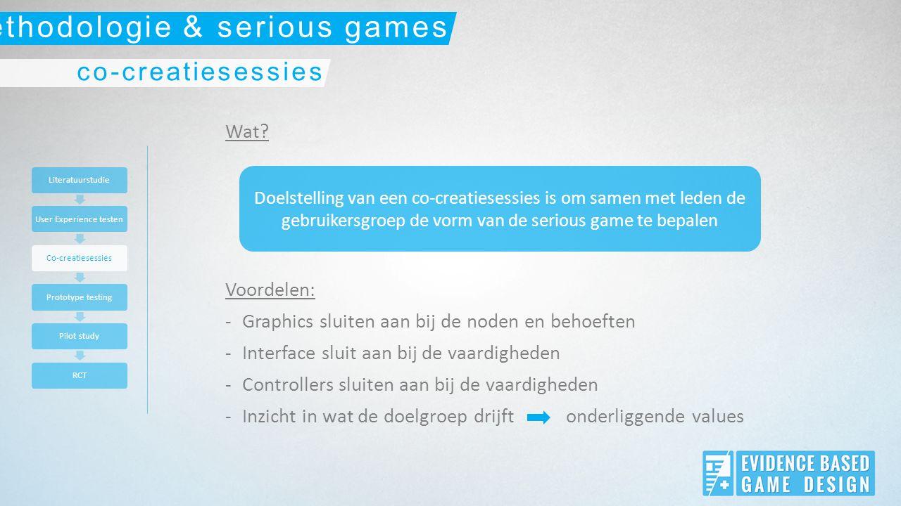 Wat? Voordelen: -Graphics sluiten aan bij de noden en behoeften -Interface sluit aan bij de vaardigheden -Controllers sluiten aan bij de vaardigheden