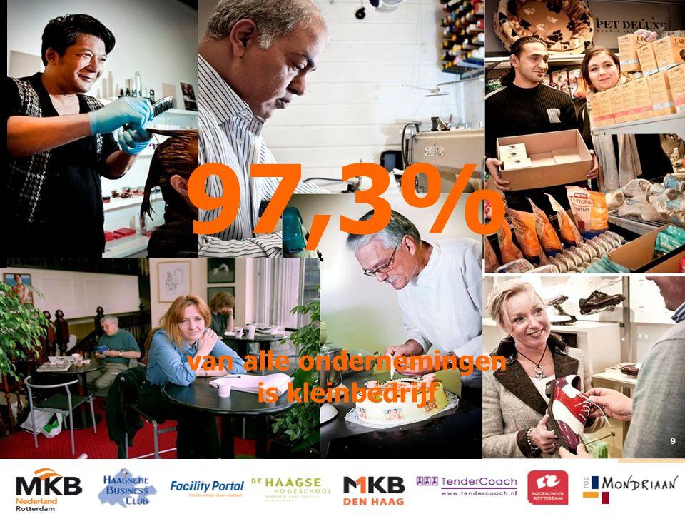 HET KENNISNETWERK VOOR INKOOP EN SUPPLY MANAGEMENT 97,3% van alle ondernemingen is kleinbedrijf