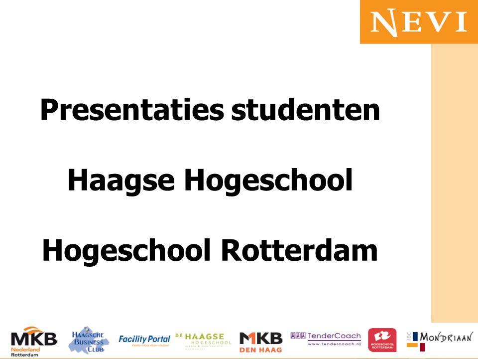 HET KENNISNETWERK VOOR INKOOP EN SUPPLY MANAGEMENT Presentaties studenten Haagse Hogeschool Hogeschool Rotterdam