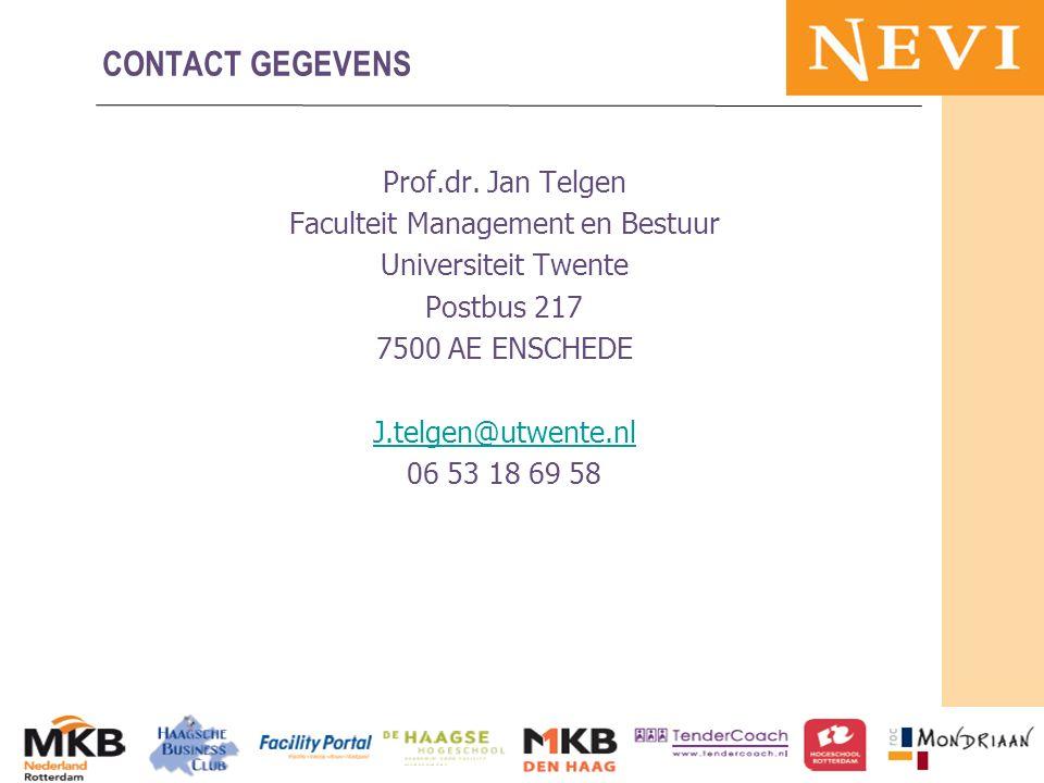 HET KENNISNETWERK VOOR INKOOP EN SUPPLY MANAGEMENT Prof.dr. Jan Telgen Faculteit Management en Bestuur Universiteit Twente Postbus 217 7500 AE ENSCHED