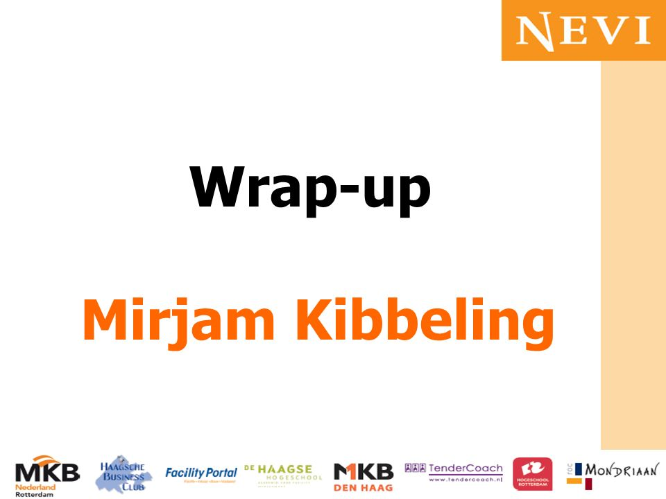 Wrap-up Mirjam Kibbeling