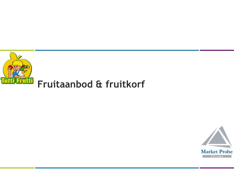Fruitaanbod & fruitkorf