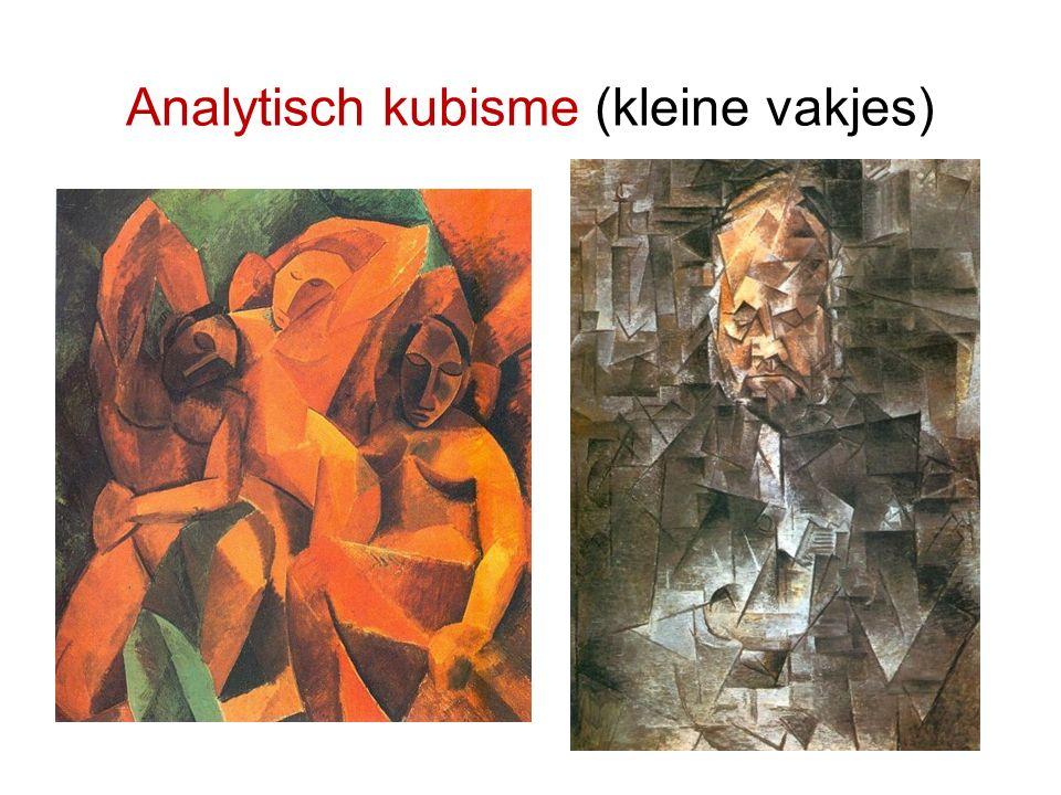 Analytisch kubisme (kleine vakjes)