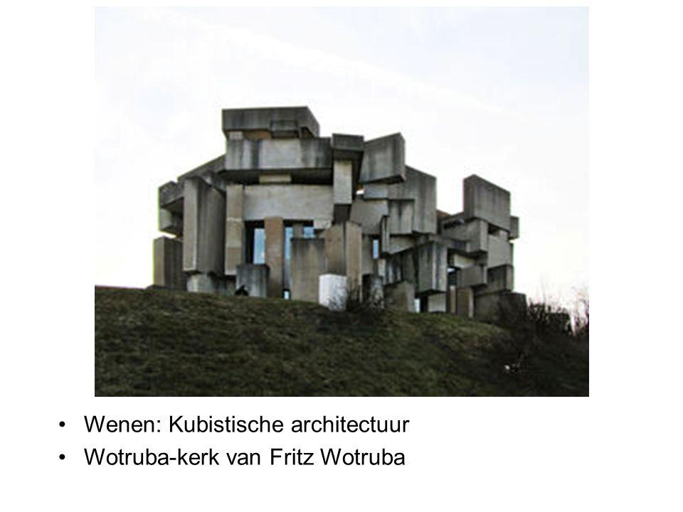 Wenen: Kubistische architectuur Wotruba-kerk van Fritz Wotruba