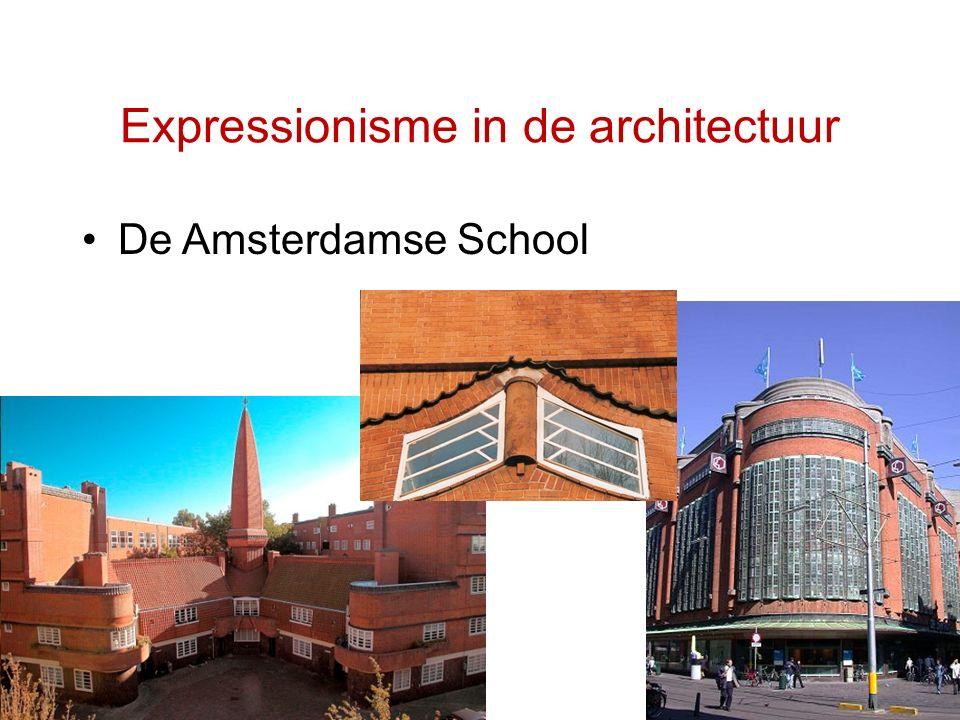 Expressionisme in de architectuur De Amsterdamse School