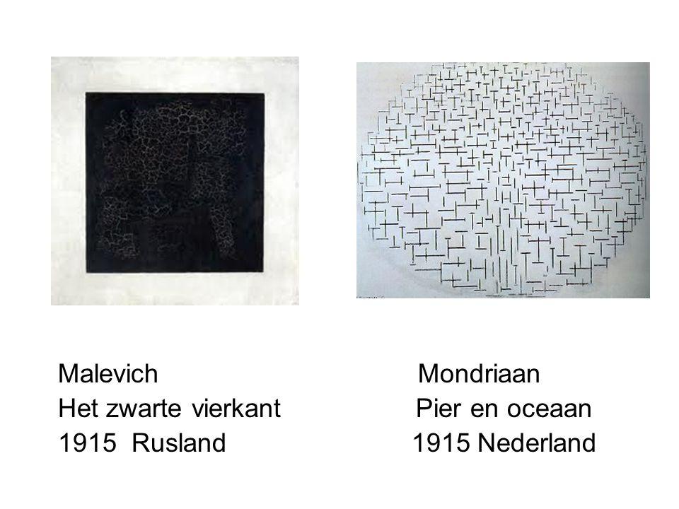 Malevich Mondriaan Het zwarte vierkant Pier en oceaan 1915 Rusland 1915 Nederland